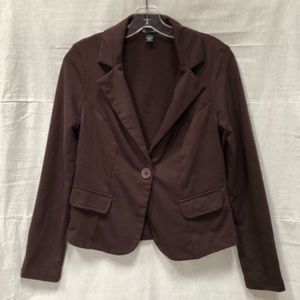 New Directions Single Breasted Knit Blazer Jacket
